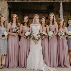 Jcrew strapless Bridesmaid dress- soft taupe color